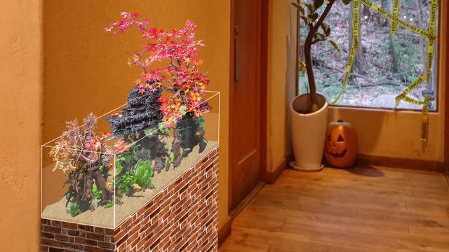 淡水魚(季節の造花)の合成画像イメージ